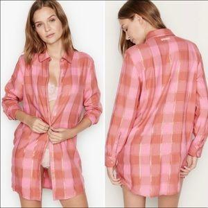 NEW Victoria's Secret Sleep Shirt Pink & Gold M